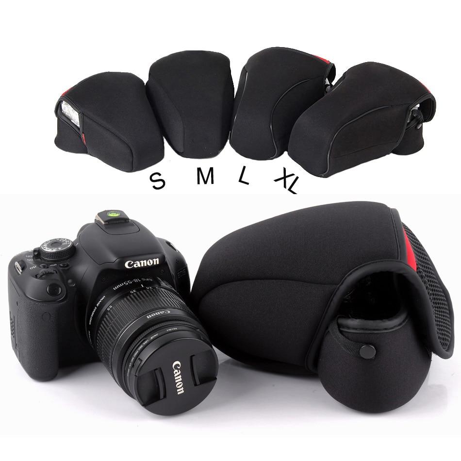 Inner Soft Portable Thicken DSLR Camera Bag Case For Canon 1300D 750D Nikon D5300 D3400 D7500 Sony alpha A6000 Photo Foto Bag jjc nylon deluxe case water resistant protector lens bag for sony a5000 a5100 a6000 canon 1300d nikon d7200 p900 d5300 dslr