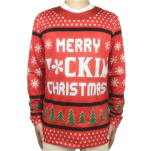 Tacky Letter Printed Ugly Christmas T Shirt for Men Funny Long Sleeve Shirts Xmas Vacation Tee Plus Size
