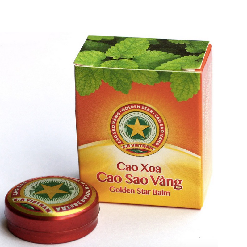 Golden Star Tiger Balm Menthol-Balm Relief-Headache Refreshing Sting Vietnam Dizziness