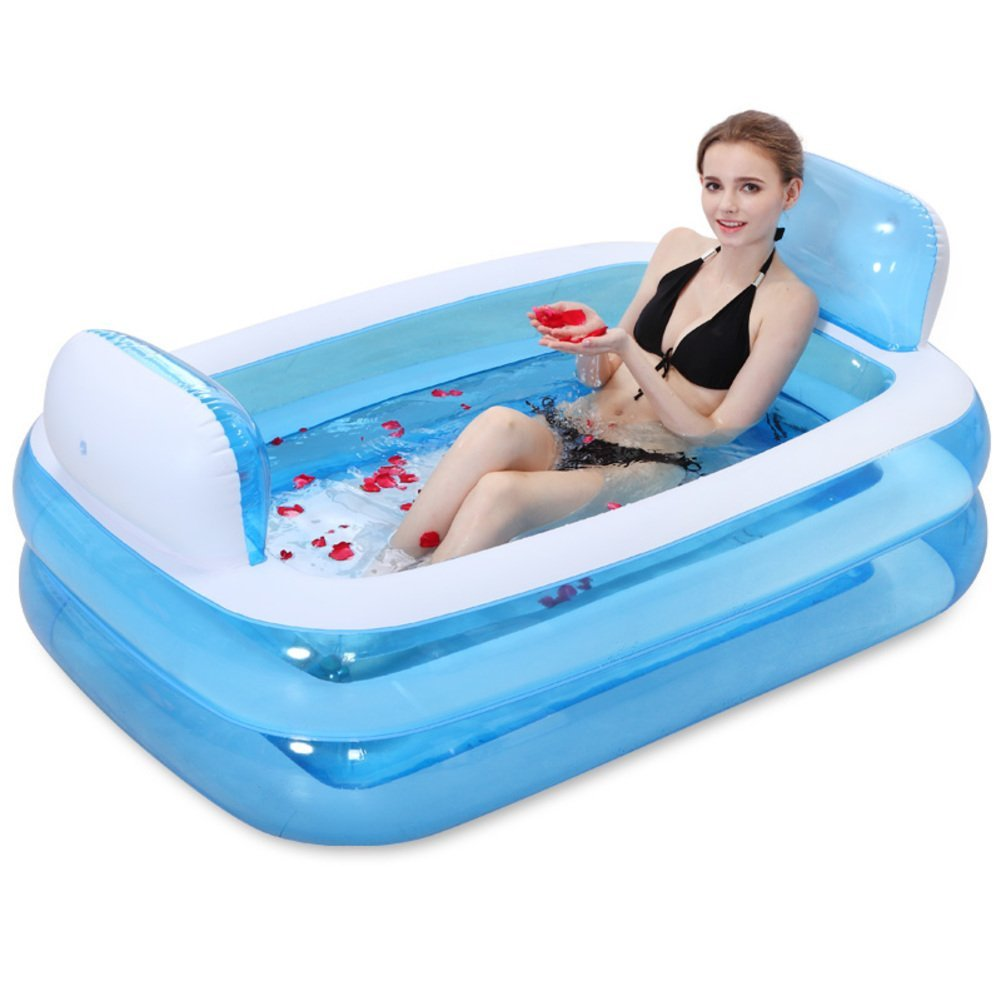 Thickening inflatable bath adult / child bathtub / bath tub Sky blue ...