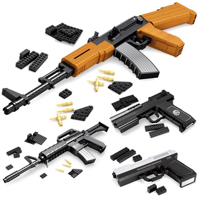 2018 newest building blocks assembled toy super armament rifle gun