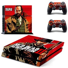 Red Dead: Redemption II PS4 Skin Console & Controller Decal Stickers for Sony PlayStation 4 Console and Two Controller