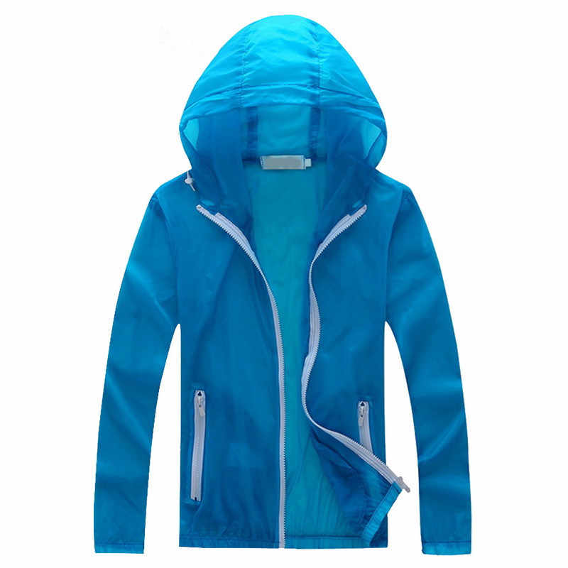 Yeni erkek güneş koruyucu Hoody Jackey moda katı dış giyim plaj Quacik kuru kat nefes giyim ince cilt koruma ceket