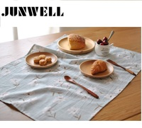 4pcs Set Linen Cotton Floral Printing Dishtowel Napkin Kitchen Towel Tea Towel Cleaning Cloth Ultra Durable