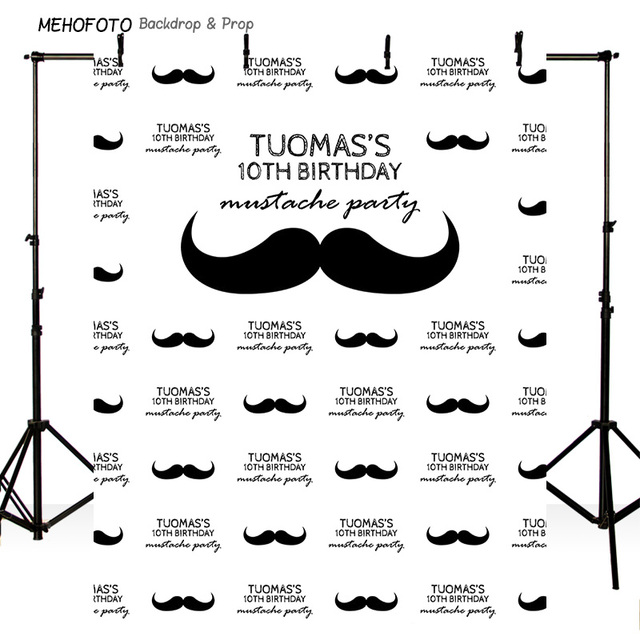 Greatest HIS MUSTACHE PARTY PRINTED PHOTO BACKDROP STEP AND REPEAT BANNER  ZD91
