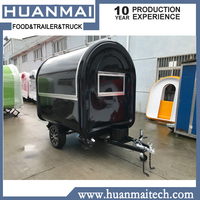 Mobile Food Cart Catering Food Trailer Food Truck Black 2300x1650x2300mm