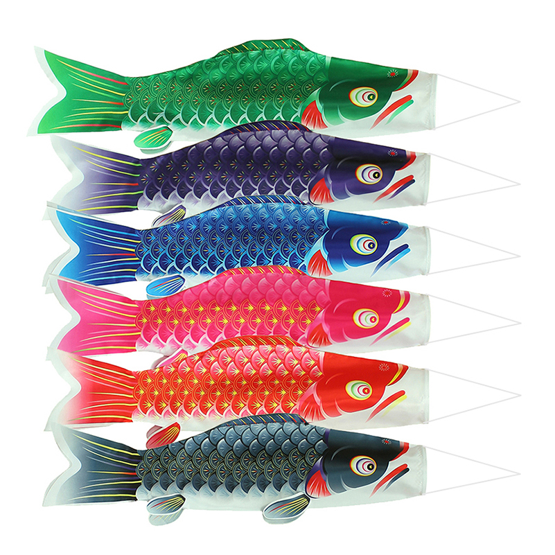 New 50/70/100cm Japanese Koinobori Carp Kite Windsock Streamer Fish Flag Kite Multicolor Fish Windsock Carp Wind Sock Flag Gifts