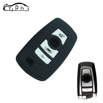 For BMW F10 F20 F30 Z4 X1 X3 X4 M1 M2 M3 E90 1 2 3 5 7 SERIES Silicone Remote Key Case Fob Shell Cover 2013-2016 Free Shipping image