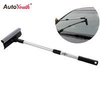 AUTOYOUTH Detachable Double Sided Glass Cleaner Brush Brush Glass Window Extended Handle
