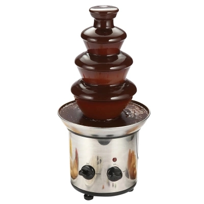 220V Chocolate Fountain 4-layer Chocolate Waterfall Stainless Steel Material Chocolate Melting Machine бордюр ceradim chocolate line strokes 2x50