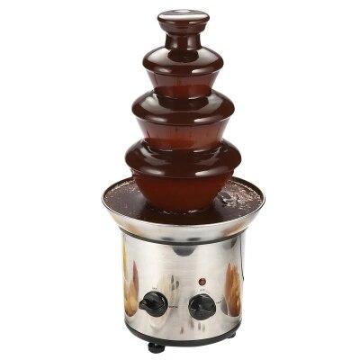 Machine de fusion de chocolat de matériel d'acier inoxydable de cascade de chocolat de 4 couches de fontaine de chocolat de 220 V