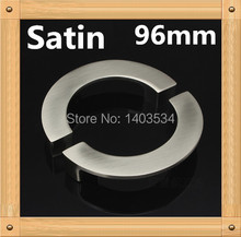 Length 112mm Hole Pitch 96mm Semicircle half round Zinc Alloy furniture knob drawer knob Wire-drawing finish