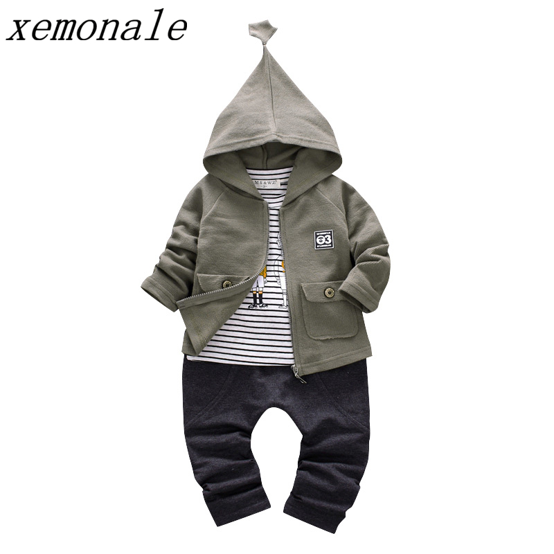 цены на Spring Autumn Children Boy Girls Clothes Baby Hoodies T-shirt And Pants 3Pcs Suits Fashion Kids Clothing Sets Toddler Tracksuits в интернет-магазинах