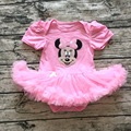 baby girl pink minnie romper dress newborn girl cartoon dress infant girl outfit boutique toddler girl short sleeve summer dress