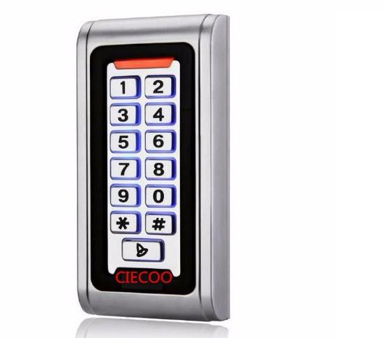 Metal RFID/ EM Card Reader IP68 Waterproof metal standalone Door Lock access control system with keypad 2000 card users capacity lpsecurity 125khz id em or 13 56mhz rfid metal door lock access controller with digital backlit keypad ip65 waterproof