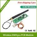 Dhl быстрая бесплатная доставка печатной платы DMX512 2.4 г беспроводной передатчик и приемник ; простой в использовании встроенный внутри света