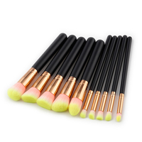 10pcs Makeup Brushes Rose Gold Mermaid Brush Eye Shadow Foundation Eyebrow Brushes Fishtail Cosmetic Unicorn Brush
