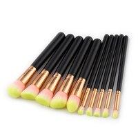 10pcs Makeup Brushes Rose Gold Mermaid Brush Eye Shadow Foundation Eyebrow Brushes Fishtail Cosmetic Unicorn Brush