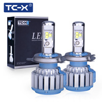 TC X 2 Pieces Car LED Headlight Bulbs Kit H4 Hi Lo 9003 HB2 Main Beam