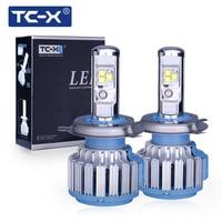 TC X 2 Pieces Car LED Headlight Bulbs Kit H4 Hi Lo 9003 HB2 Main Beam