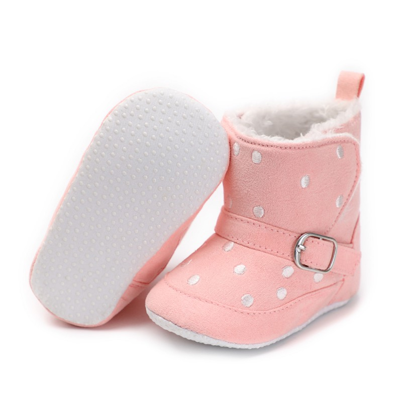 Cotton Baby Buckle First Walkers Baby Warm Hook And Look Boots Winter Soft Bottom Snow Boots New