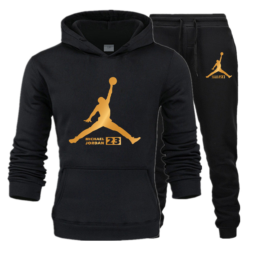 Fleece Hoodie Sportswear-Set Suit Jordan Letter Spring Autumn Malechandal Hombre New