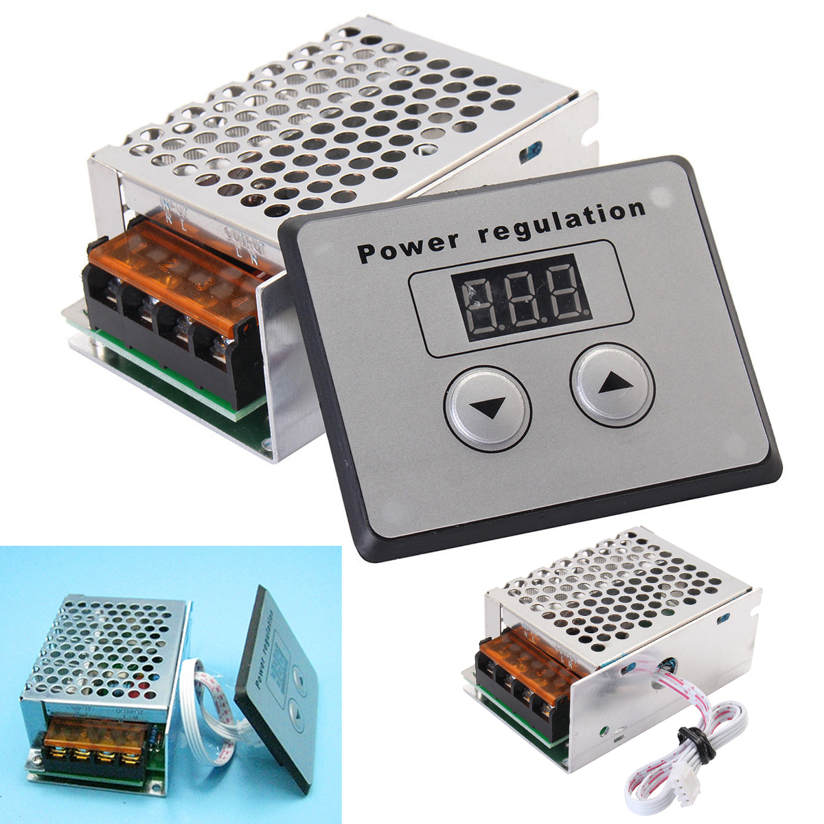 4000W <font><b>220V</b></font> AC SCR <font><b>Voltage</b></font> <font><b>Regulator</b></font> Dimmer Mayitr Electric Motor Speed Temperature Controller for Water Heater Small Motors image