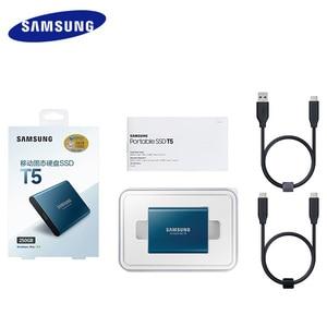 Image 5 - سامسونج t5 المحمولة ssd الخارجية محركات الأقراص الصلبة 250 GB 500 GB 1 تيرا بايت USB 3.1 Gen2 الخارجية وسيط تخزين ذو حالة ثابتة/ القرص الصلب ديسكو دورو ssd المحمولة
