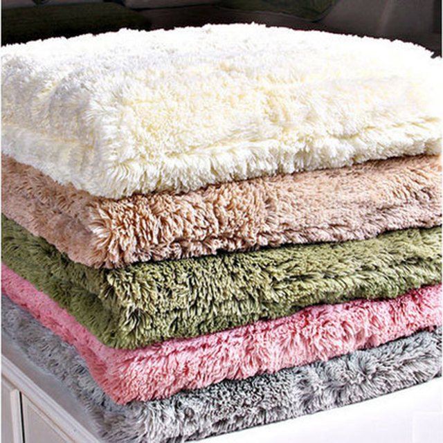 Good 1 Piece Plush Sofa Cover Towel Fluffy Soft Slipcover Resistant Seat Couch  Cover For Living Room