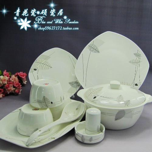 Jingdezhen ceramic tableware with 56 head Palace series of high grade bone china suit