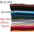 1 pcs Plain hijabs for women viscose solid color shawl scarf muslim head wrap elegant scarves 20 colors plus size 180CM*90CM