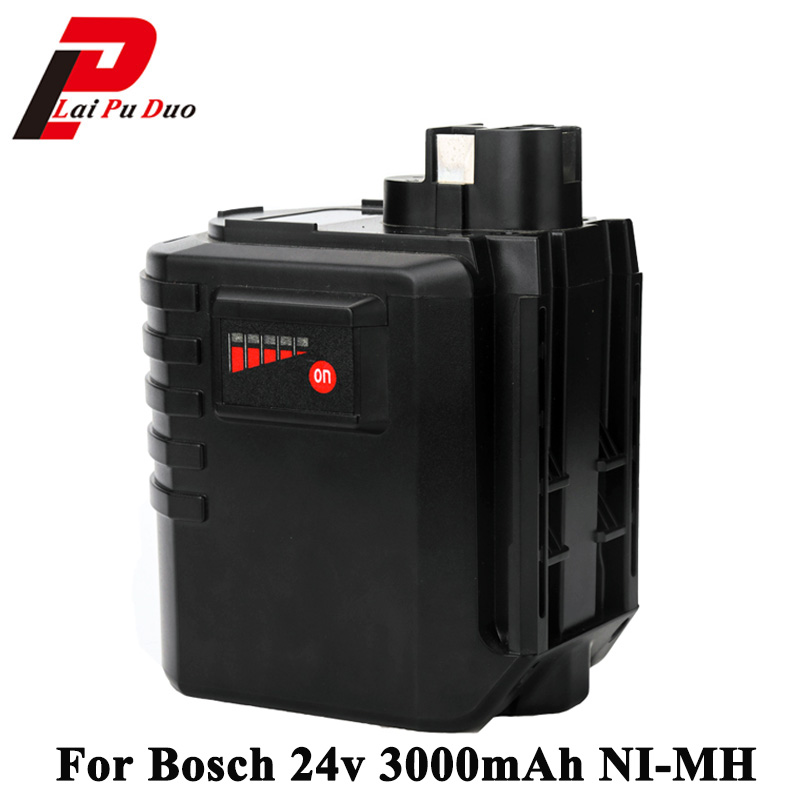 For Bosch 24V 3000mAh Rechargeable Battery Pack Power Tools Batteris Replacement for GBH 24VFR GBH24VRE 2 607 335 098, new 24v ni mh 3 0ah replacement rechargeable power tool battery for bosch bat299 bat240 2 607 335 637 bat030 bat031 gkg24v