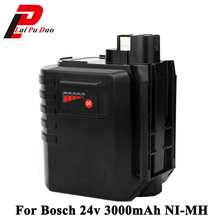Batteris-Replacement Bosch Power-Tools Rechargeable 24V 3000mah for 24VFR GBH24VRE 335