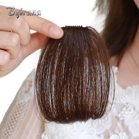 Bybrana 4 Colors Two Styles Short Straight Remy Hair Bangs Brazilian Human Hair Hair Extensions Free