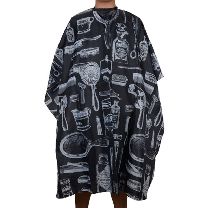 Black Professional Hot Salon Hairdressing Hairdresser Hair Cutting Gown Barber Cape Cloth
