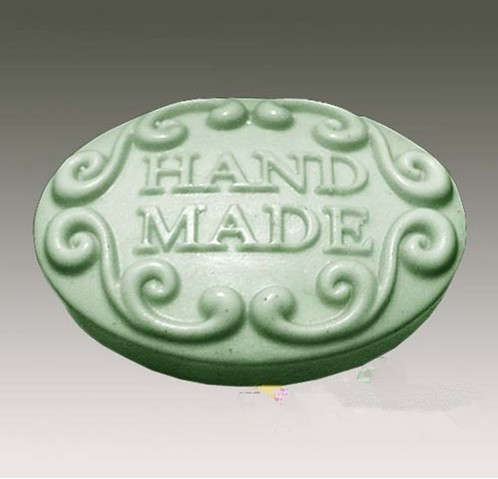 Lace HANDMADE soap mold / food grade silicone soap molds hand made words pattern silicone
