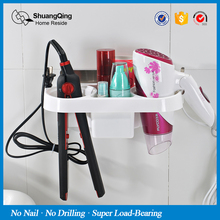 Free shipping plastic storage rack holder kitchen rack bathroom wall storage rack Electric hair plywood comb hair dryer holder