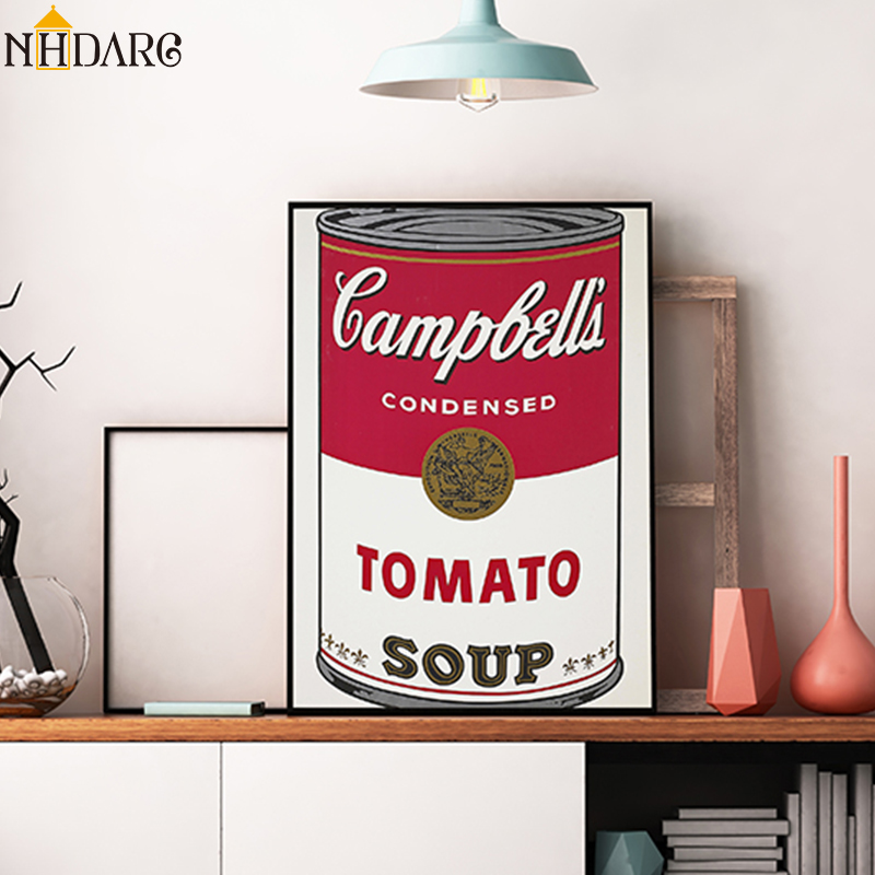 Nordic Art Posters and Prints Campbell's Soup Cans Wall Art Canvas Painting Pictures For Living Room Artwork Home Decor image