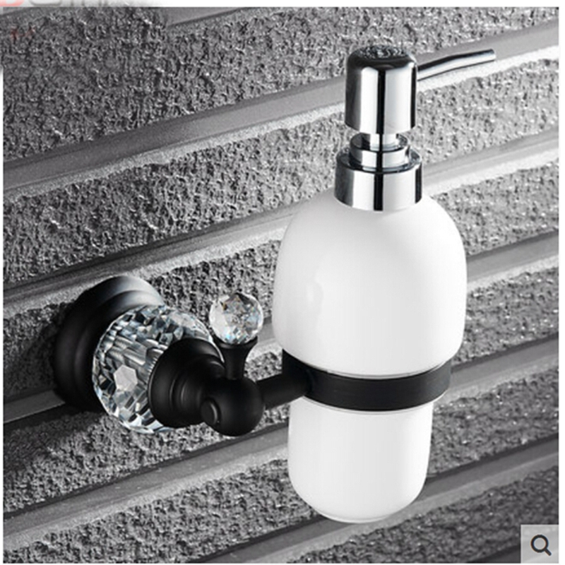 Oil Rubbed Bronze Crystal Kitchen Touch Soap Dispenser Liquid Soap Dispenser cheaper stainless steel liquid soap dispenser kitchen sink soap box free shipping chrome finished