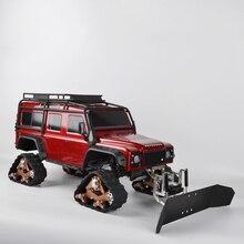 RC металлическая лопата для снега и сервопривод для подметания снега инструменты радиоуправления для осевой SCX10 Traxxas TRX4 1/10 RC Гусеничный автомобиль