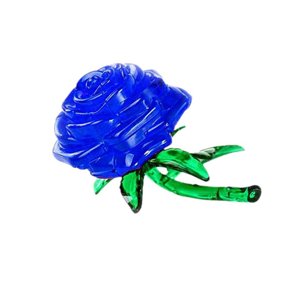 DIY Кристалл 3D Ферниш Голубая роза Куб IQ головоломки Симпатичные Souptoys для детей игрушка в подарок FJ88
