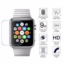 цены на Siago Real Tempered Glass LCD Screen Protector for Apple Watch 38mm 42mm Premium Scratch Proof 9H Hardness Protector Film  в интернет-магазинах