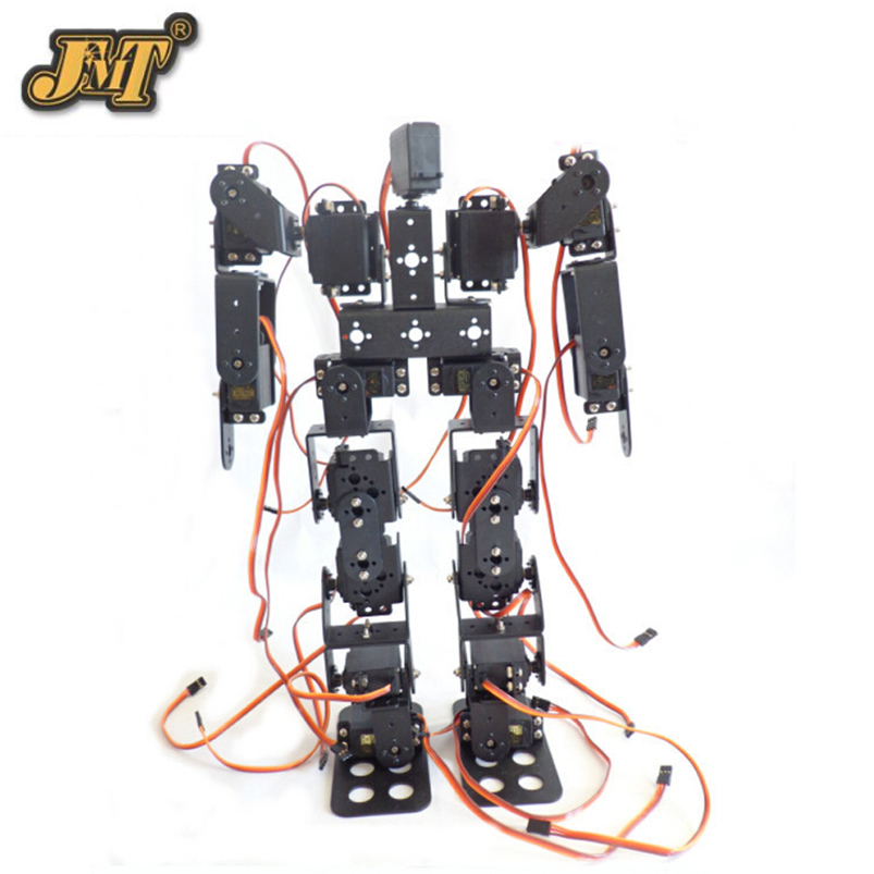 17DOF Biped Robotic Educational Robot Humanoid Robot Kit Servo Bracket with Remote Controller F17327 new 17 degrees of freedom humanoid biped robot teaching and research biped robot platform model no electronic control system