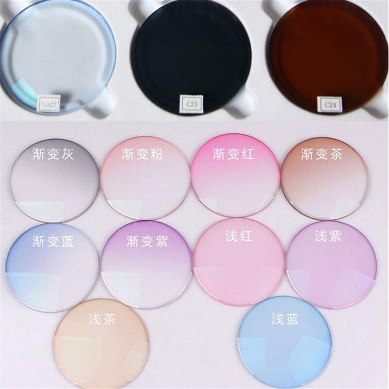 1 56 Resin Lens Myopia hyperopia myopia lens colored lenses for eyes Customized lens color sunglasses