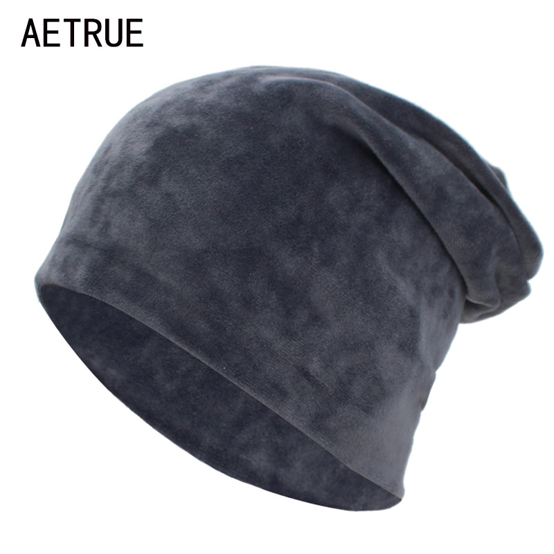 AETRUE Women   Skullies     Beanies   Knitted Hat Female Winter Hats For Women Bonnet Balaclava Autumn Velvet Feminino   Beanie   Hat Cap