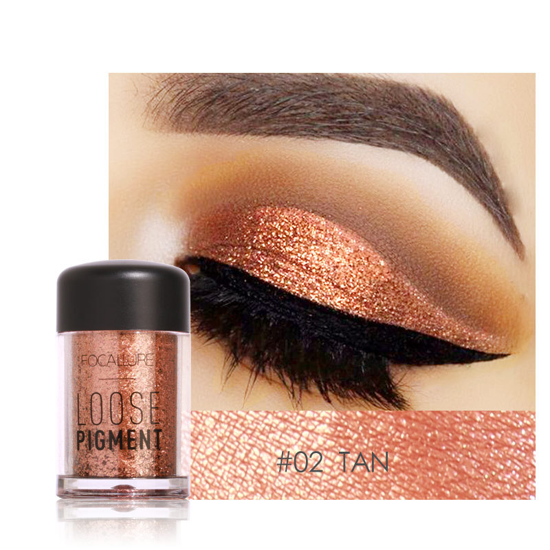 FOCALLURE 12Color Glitter Eye Shadow Cosmetic NAKED Makeup D