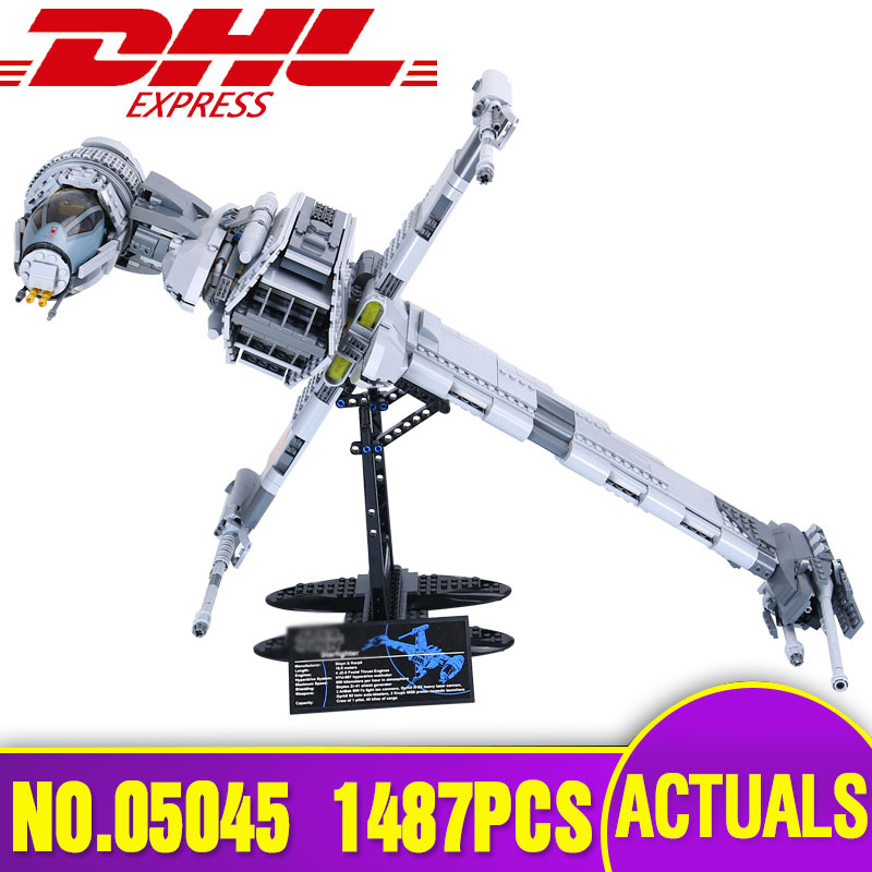 DHL Lepin 05045 Star series The Wars B Starfighter wing Educational Building Blocks Bricks Toys Legoing 10227 Christmas Gifts 2018 lepin 05150 compatible legoing 75219 wars series imperial at hauler building blocks bricks educational toys gifts