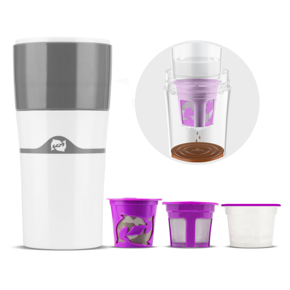 Portable Drip Coffee Maker Filter For Travel Mug Espresso Machine Reusable Multifunction Enjoy Hot and Cold
