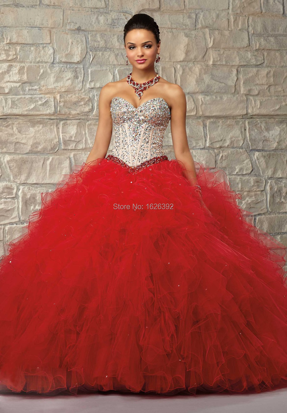 Compare Prices on Long Red Sweet 16 Dresses- Online Shopping/Buy ...