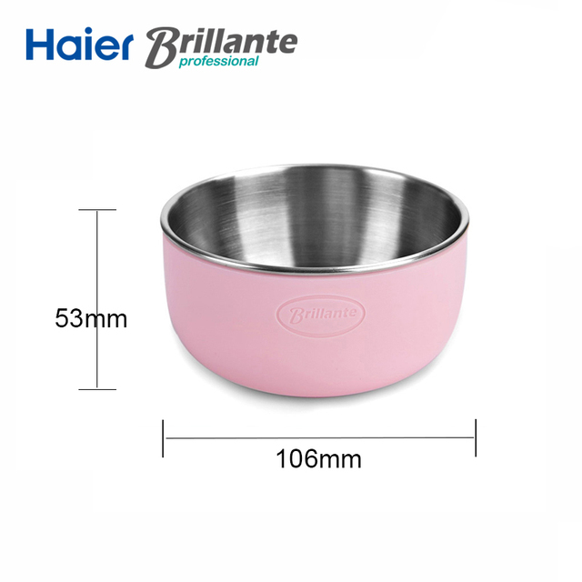 Haier Brillante Stainless Steel Baby Bowl with Silicone Shell
